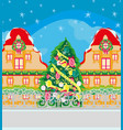 holidays in the city vector image