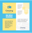 id card company brochure title page design vector image
