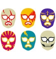 Lucha libre mexican wrestling masks vector | Price: 1 Credit (USD $1)