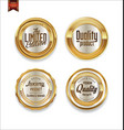 luxury sale golden labels collection 4 vector image vector image