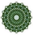 Mandala on isolated background vector image vector image