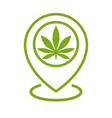 marijuana store location icon map pointer vector image vector image