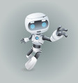 mascot robot technology science fiction future 3d vector image vector image