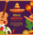 mexico culture event with traditional decoration vector image