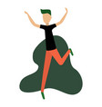 modern boy dancing and having fun at a party vector image vector image