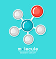 molecular structure emblem research concept in vector image vector image