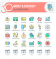 money and currency icons vector image