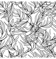 Natural leaves seamless pattern Hand drawn vector image vector image
