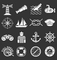 nautical icons set grey vector image vector image