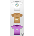 pictures on T-shirts vector image vector image