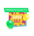 premium quality hot prices promo sticker balloons vector image vector image