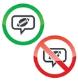 Rugby message permission signs vector image vector image