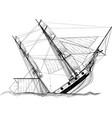 sailing ship wreck vector image