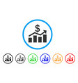 sales chart rounded icon vector image vector image