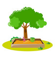 Sandbox in the park vector image