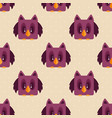 seamless background with owls vector image vector image