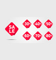 set advertising discount labels with percentage vector image vector image