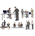set business people in flat style vector image vector image