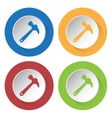 set of four icons - claw hammer vector image vector image