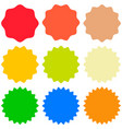 set template sunburst shapes badges promo vector image