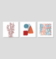 set with collage modern poster with abstract vector image vector image