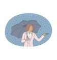 storm rain autumn concept vector image vector image
