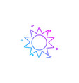 sun shine hot icon design vector image vector image