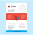 template layout for brain comany profile annual vector image