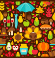 thanksgiving holiday seamless pattern vector image