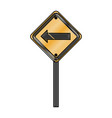 traffic signal with left arrow vector image vector image