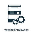 website optimization icon line style icon design vector image vector image