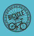bicycle wheel chain transport blue design vector image