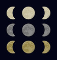yellow gray and white moon vector image