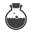 laboratory flask icon vector image
