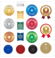 Set of premium quality guarantee badge and label vector image
