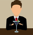 cocktail night vector image