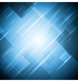 Abstract blue shiny design vector image vector image