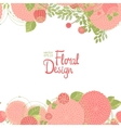 Abstract floral border vector image vector image