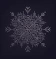 abstract linear snowflake artdeco vector image