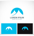 abstract mountain icon logo vector image vector image