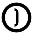 accessories for door icon black color in circle vector image vector image