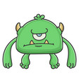 angry green cyclops goblin cartoon monster vector image vector image