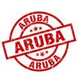 aruba red round grunge stamp vector image vector image