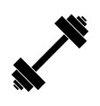 barbell icon vector image vector image