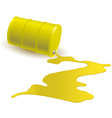Barrel with yellow liquid vector image vector image