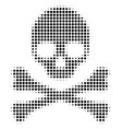 black dot death skull icon vector image vector image