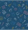 blue school seamless pattern vector image