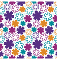Bold flowers seamless pattern vector image