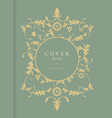 book cover with decorative background in vintage vector image vector image