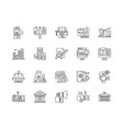 business for sale line icons signs set vector image vector image
